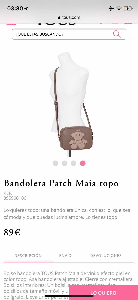 86b983d04c Bandolera Última Colección Tous - $ 110.000 en Mercado Libre
