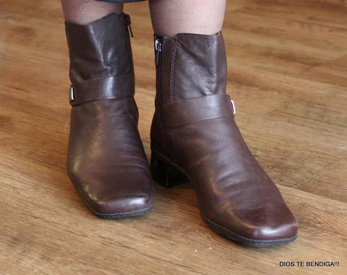 bandolino botas botines cuero 38