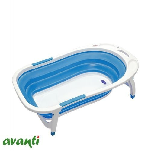 bañera bañadera avanti plegable para bebe con tapon drenaje