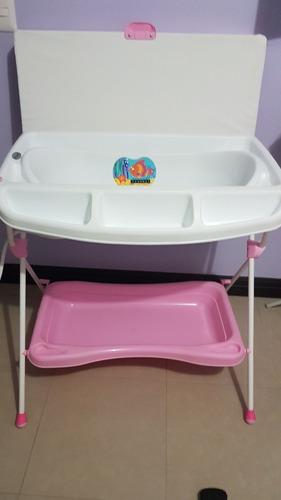 bañera cambiador para bebe usada