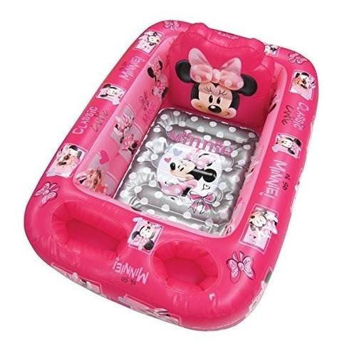 bañera de seguridad inflable disney minnie mouse, rosa