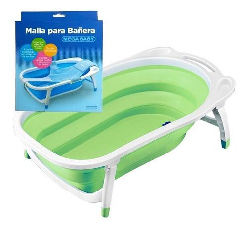 bañera flexible plegable mega baby + red de baño