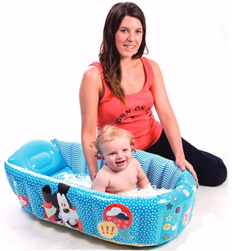 bañera inflable bebe disney mickey minnie nemo desague compa