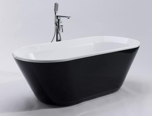 bañera minimal curva negra 170x80x60