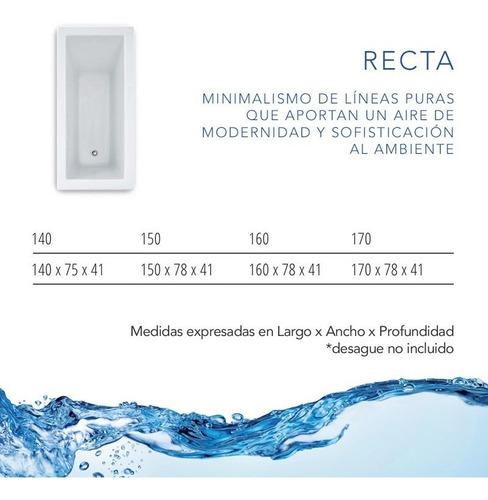 bañera minimalista bäden recta 140x75cm acrílico sanitario