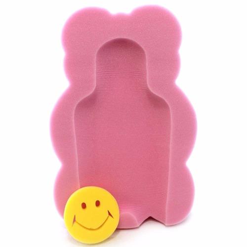 bañera osito bebe inclinada anti-reflujo 50 cm-rosa