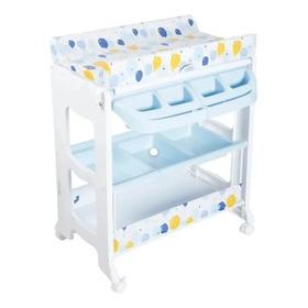 Bañera Para Bebe Con Cambiador, Cajones Y Rodachines Ebaby