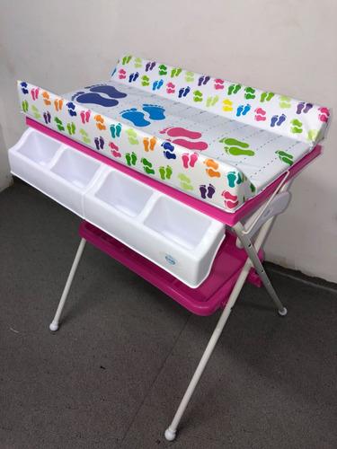 bañera para bebe con cambiador y organizador de baño nuevos