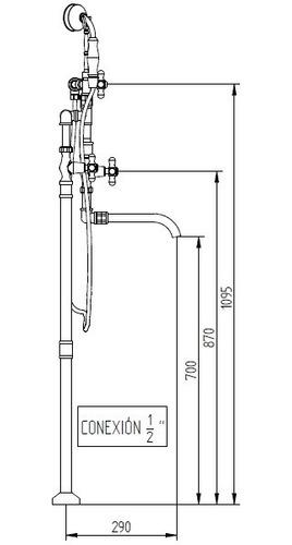 bañera pedestal robinet persa c/duchador cobre 6 cuotas