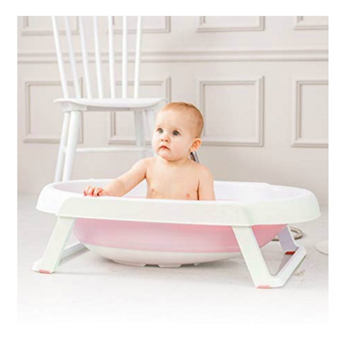 bañera plegable bebés niño niña + asiento tina colores / pix