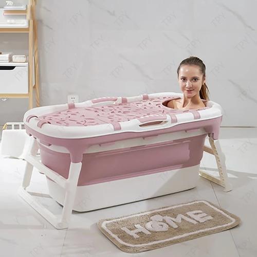 bañera plegable con tapa felcraft p/ adultos bebe y niños