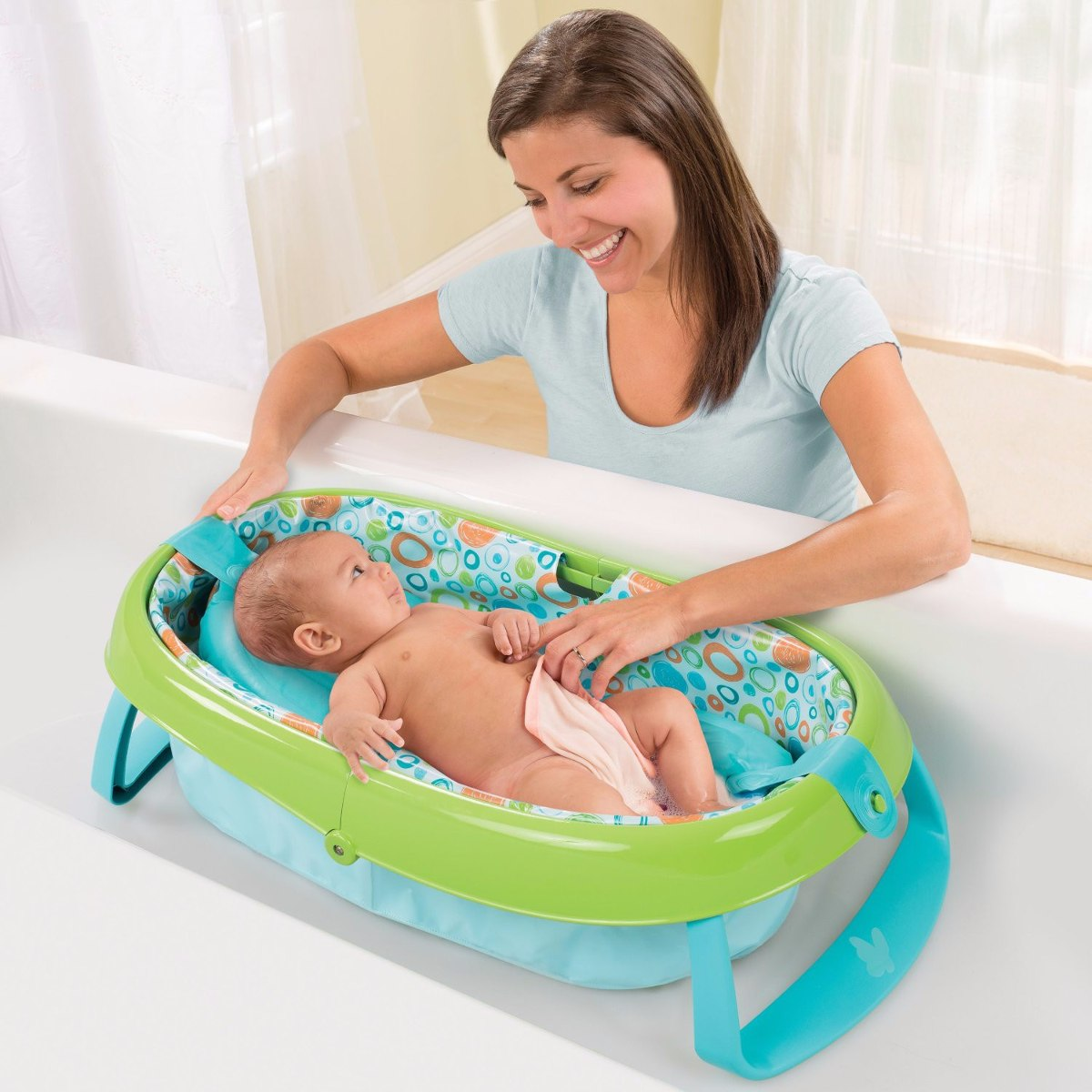 Ba era portatil plegable bebe summer infant ducha 2 in 1 for Banera plastico bebe