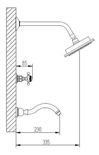 bañera robinet berna con transferencia cromo 6 cuotas