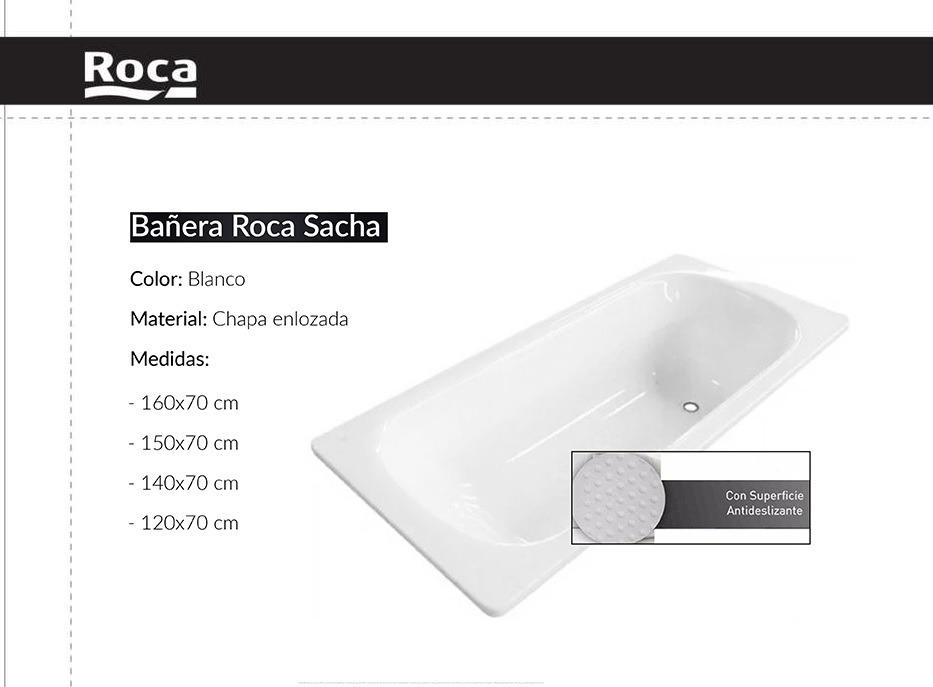 Bañera Roca Sacha 140 X 070 Chapa Enlozada