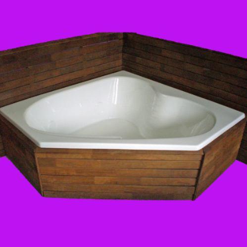 bañera ruhaj esquinera acrílica 150x150x50 máxima calidad pr