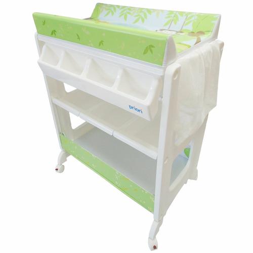 bañera tina bebe de lujo priori con camniador y mueble