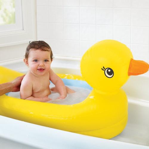 bañera tina inflable patito munchkin medidor de temperatura