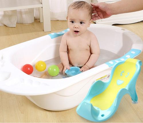 bañera tina para bebe con soporte marca mundo bebe
