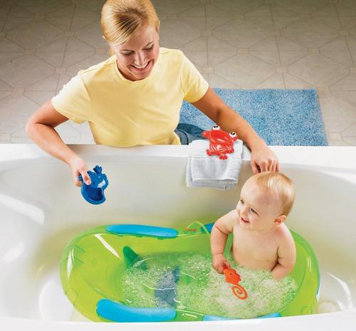 bañera tina para bebé fisher price rainforest con hamaca