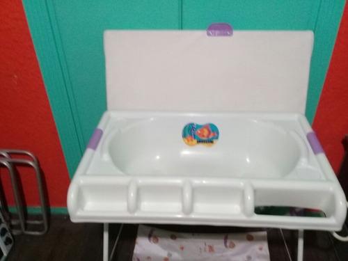 bañera y cambiador para bebe con desague bebesit un regalo