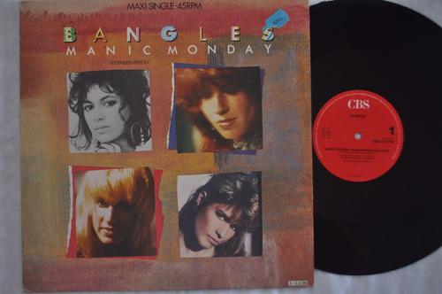 bangles, manic monday, maxi single, vinil