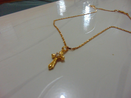 banhado ouro colar