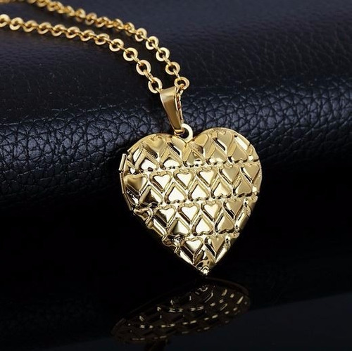 banhado ouro colar feminino