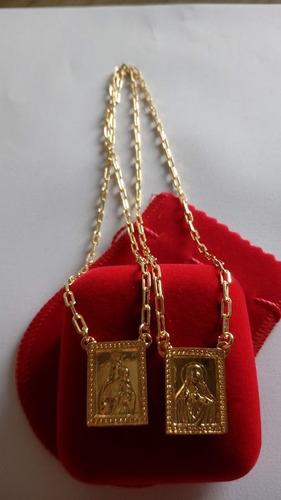 banhado ouro escapulário