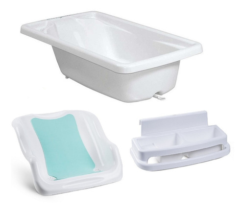 banheira avulsa + assento redutor + saboneteira  burigotto