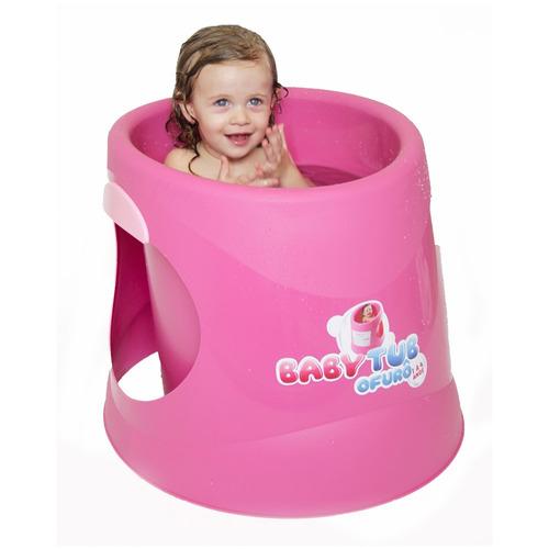 banheira babytub ofurô - de 1 à 4 anos - rosa - baby tub