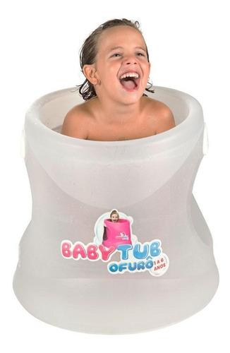 banheira babytub ofurô de 1 a 6 anos transparente baby tub