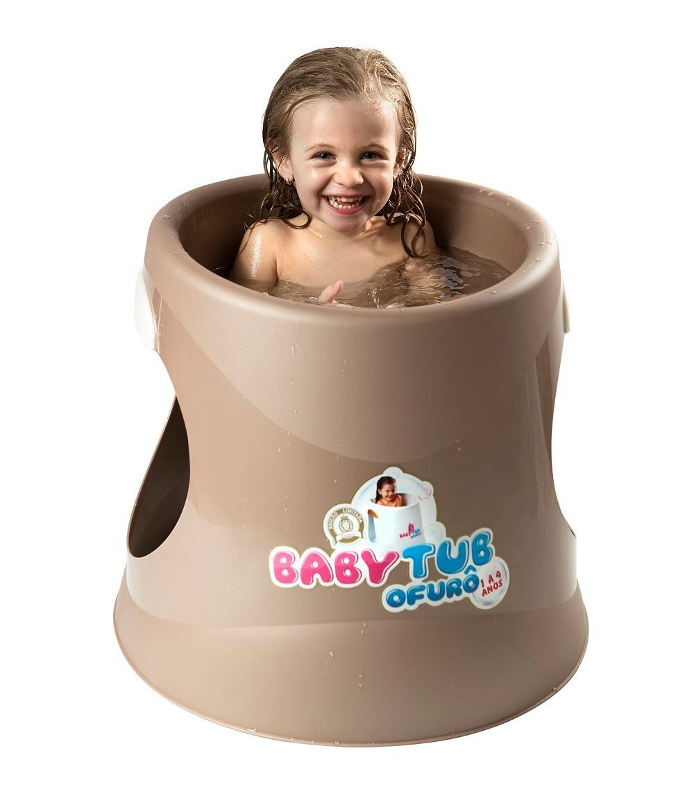 Banheira Babytub Ofurô P/ Criança/bebê 1 A 4 Anos - Dourada - R ...