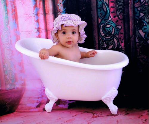 banheira cenográfica newborn- até 12 meses