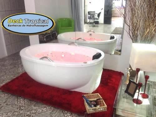 banheira dupla com aquecedor de hidromassagem sem alvenaria