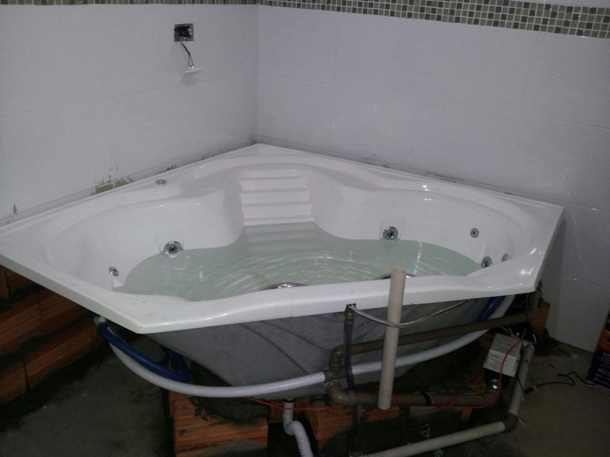 Banheira De Hidromassagem De Canto  R$ 1900,00 em Mercado Livre -> Fotos De Banheiro Com Banheira De Canto