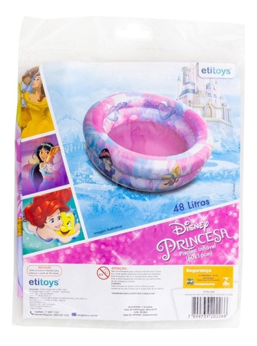 banheira inflavel meninas infantil criança 48 litros disney