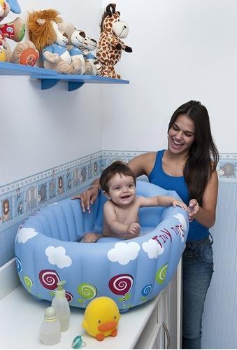 banheira inflável para bebê c/indicador de temperatura mor