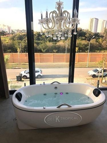 banheira olimpia dupla com hidro + aquecedor digital