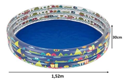 banheira piscina inflável infantil 450 litros criança redonda 1784 - mor