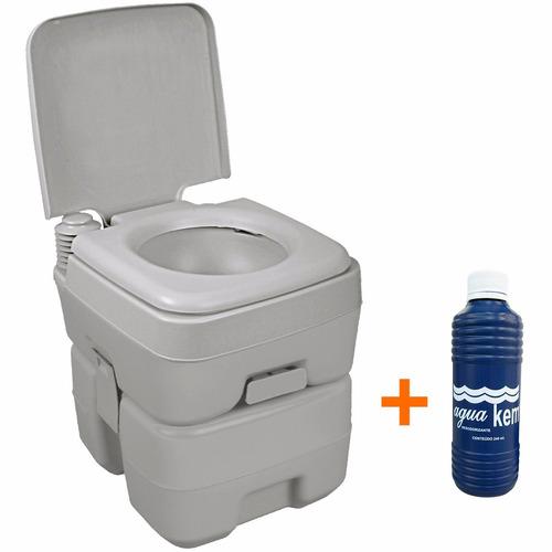 Banheiro Caixa Vaso Sanitário Portátil Ecocamp 20l Nautika  R$ 604,90 em Mer -> Banheiro Feminino Portatil