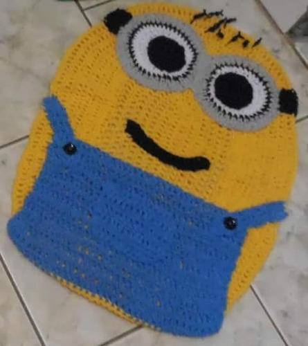 Tapete Minions De Croche : Tapete Banheiro Quarto Sala Casa Infantil Minion Croch? – R$ 54,90 em