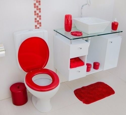 kit decoracao banheiro:Kit Acessorio Banheiro Decoração – Astra – Varias Cores – R$ 69,99