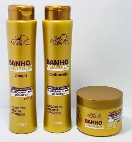 banho de verniz - 24 produtos - doura hair - lançamento