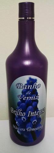 banho de verniz para cabelos - brilho intenso termoativado
