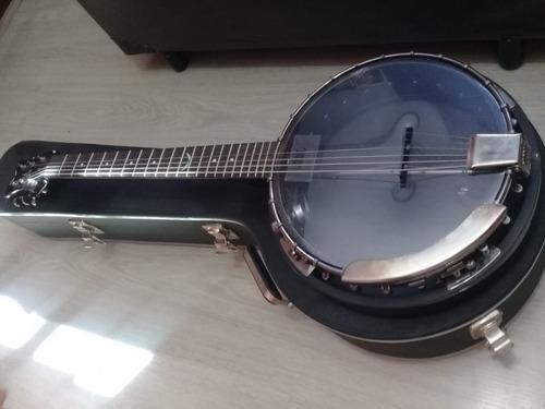 banjo americano 6 cordas dean - case incluso - country