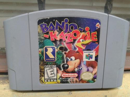banjo kazooie nintendo 64 n64 funcionando