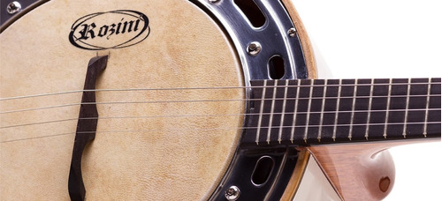 banjo rozini studio elétrico branco rj11elb