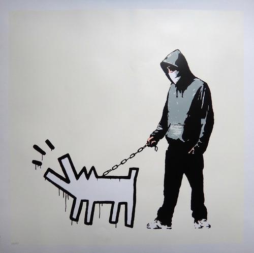 banksy - serigrafia choose your weapon - editada em londres