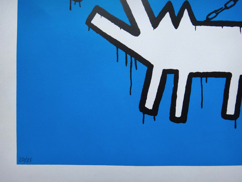 banksy - serigrafia - choose your weapon - keith haring