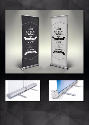 banner 80x200 con portabanner roll up gigantografias ploteos